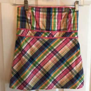 Lilly Pulitzer women's plaid sleeveless top size 0